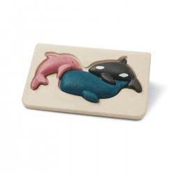 Il puzzle degli animali marini - primi puzzle
