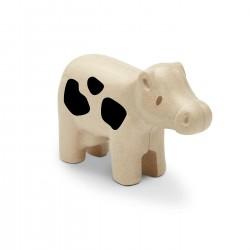 Mucca - primi animali in legno rigenerato