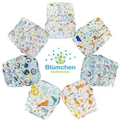 Cover Blumchen one size (3,5 - 15 kg) - chiusura bottoni