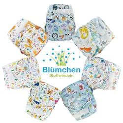 Cover Blumchen one size (3,5 - 15 kg) - chiusura velcro