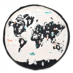 Tappeto gioco/sacco giocattoli Worldmap/Stars