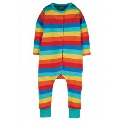 Tutina in cotone biologico Frugi - Rainbow stripe