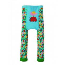 Leggings in maglina di cotone bio - Flower Ladybird  -Frugi