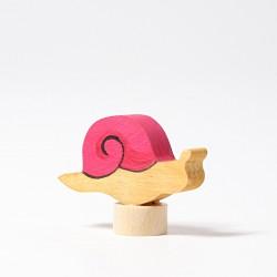 Personaggio in legno Grimm's - lumachina rosa