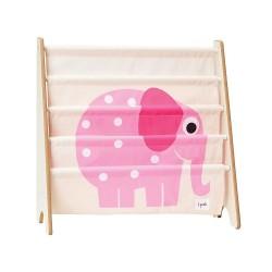 Libreria frontale per bambini - elefante rosa