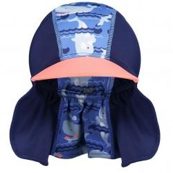 Cappellino mare e piscina anti UV - Balena