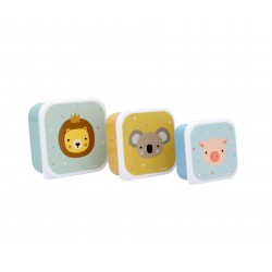 Pack tre scatoline snack Animal friends