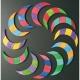 Spirale colorata - puzzle magnetico