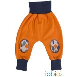 Pantaloni Joga Forest Tales cotone bio GOTS IoBIO - Arancione melange 3-6 mesi