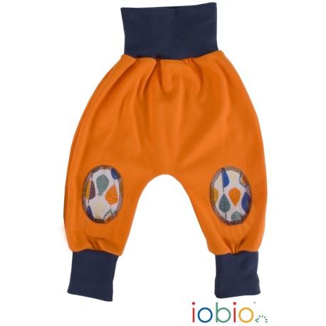 Pantaloni Joga interlock cotone bio GOTS IoBIO - Arancione melange