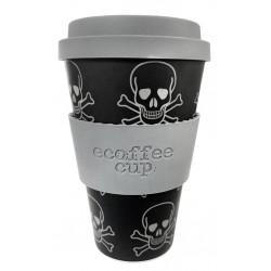 Ecoffee cup Skullduggery mtazza riutilizzabile e biodegradabile 400ml