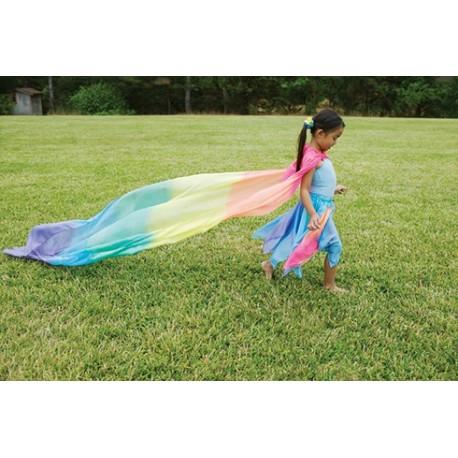 Telo in seta nei colori dell'arcobaleno