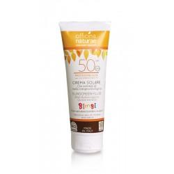Crema solare fluida -spf 50- protezione alta- filtri fisici - Officina Naturae