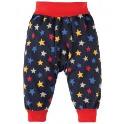 Pantaloni fantasia stelle in cotone bio Frugi