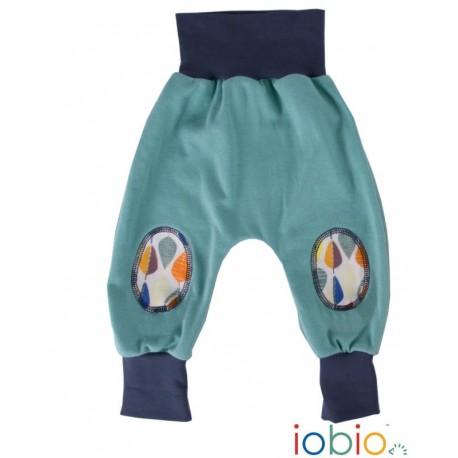 Pantaloni Joga Forest Tales cotone bio GOTS IoBIO - Verde melange