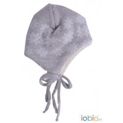Berretto in lana merino con interno in calda pellicetta di cotone biologico - grigio