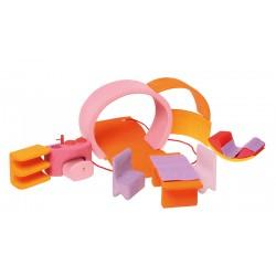 Casa delle bambole trasportabile - toni rosa arancio
