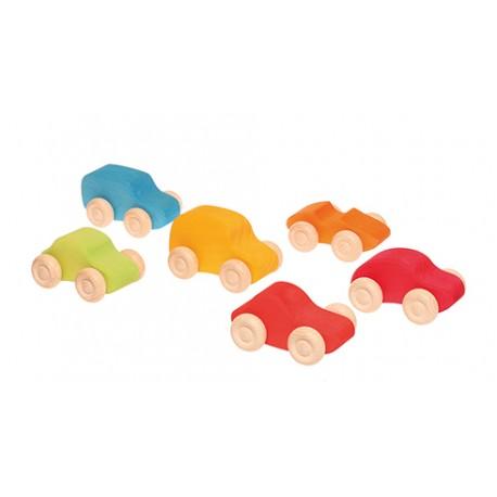 Macchinine colorate in legno -  6 pezzi  - Grimm's