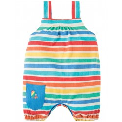 Salopette Beau Beach - Rainbow candy stripe - Frugi