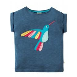 Maglietta Sophia Slub - Soft navy Bird - Frugi