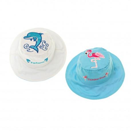 Cappello estivo reversibile Delfino - fenicottero Anti UV SPF 50+