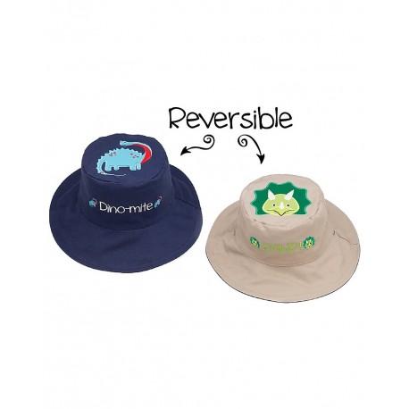Cappello estivo reversibile Dinosauri Anti UV SPF 50+