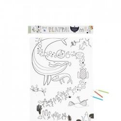 PlayPa - Rotolo da disegno - Ocean