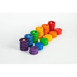 Nins® anelli e monete - Grapat - gioco in legno