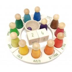 Calendario perpetuo - Grapat - gioco in legno