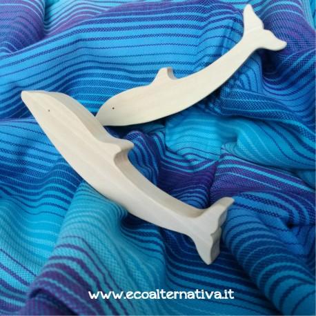 Delfino - animale in legno - Ocamora
