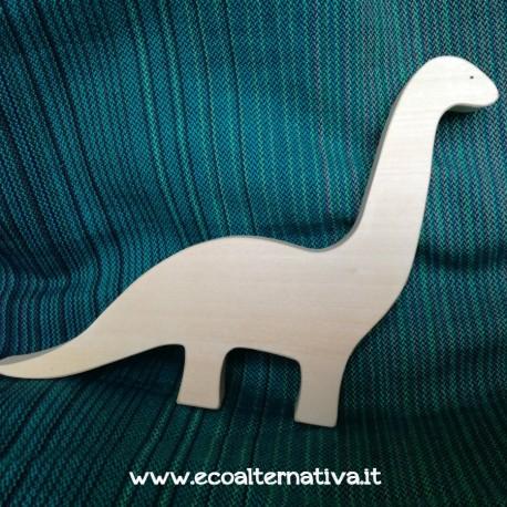 Brontosauro - dinosauro in legno - Ocamora