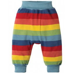 Pantaloni morbidi Rainbow Stripe in cotone biologico
