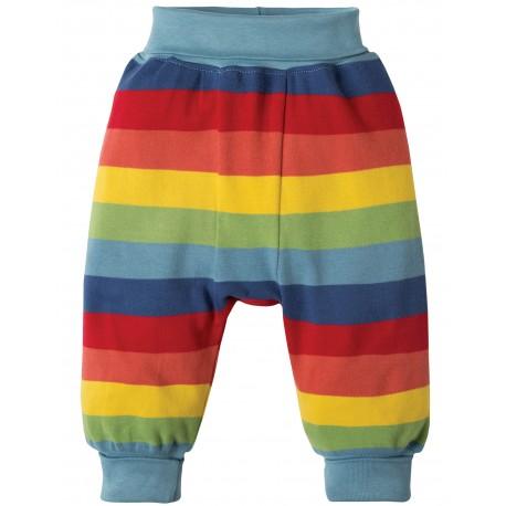 Pantaloni morbidi Rainbow Stripe in cotone biologico