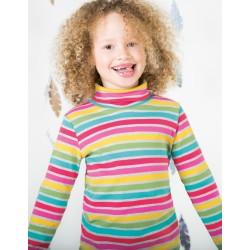 Eva Stripe maglia con collo alto in cotone biologico Frugi