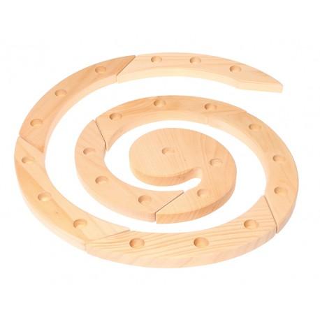 Spirale in legno 24 spazi - avvento e compleanni