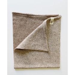 Scaldacollo in lana rigenerata - Beige/Bianco