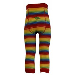 Leggings unisex in cotone BIO - fantasia Rainbow Stripes