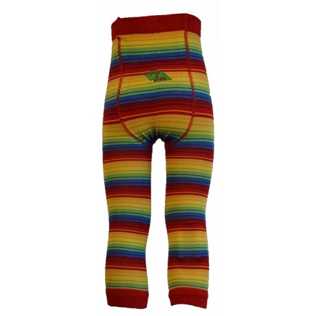 Leggings unisex in cotone BIO - fantasia Rainbow Stripes