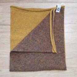 Scaldacollo  Ganzo 3 in 1 in lana rigenerata - Grano Melanzana