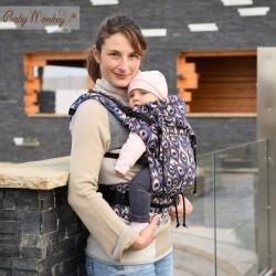 Marsupio ergonomico Regolo Babymonkey Peahen Blu - spedizione gratuita