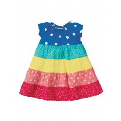 Vestito Dorothy Twirly Rainbow in cotono biologico GOTS