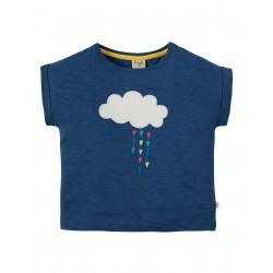 Maglietta Sophia Slub - Marine Blue Cloud  in cotone biologico GOTS