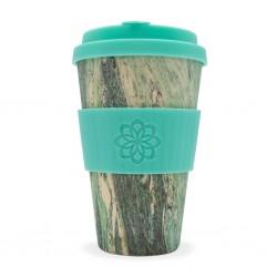Ecoffee cup Verde marmorizzato tazza riutilizzabile e biodegradabile 400ml