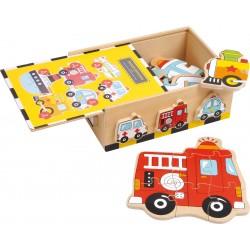 Puzzle in scatola Veicoli