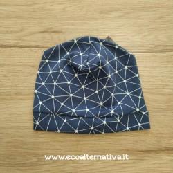 Cappellino geometrie in jersey di cotone