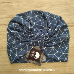Turbante geometrie in jersey di cotone - anche misura adulto