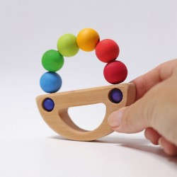 Barchetta arcobaleno in legno da afferrare - Grimm's