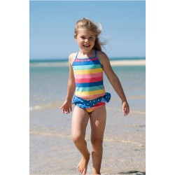 Costume Tankini - Bright Rainbow Stripe - Frugi