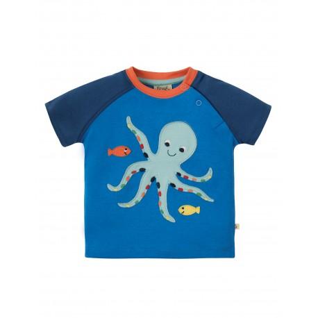 Maglietta Renny Raglan - Octopus - Frugi