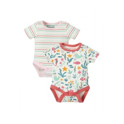 Paccheto 2 body in cotone biologico Frugi - Mermaid